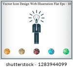 pictograph of bulb concept | Shutterstock .eps vector #1283944099