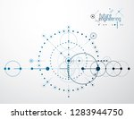 futuristic abstract vector... | Shutterstock .eps vector #1283944750