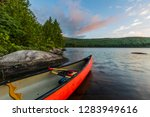 A Canoe On The Shore Of Bald...