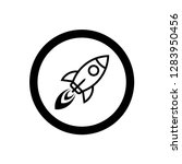 rocket icon vector symbol | Shutterstock .eps vector #1283950456