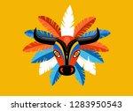 carnaval de barranquilla ... | Shutterstock .eps vector #1283950543