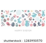 happy easter  vector banner... | Shutterstock .eps vector #1283950570