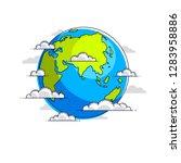 planet earth vector... | Shutterstock .eps vector #1283958886