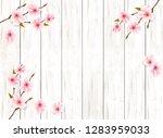 sakura japan cherry branch on... | Shutterstock .eps vector #1283959033