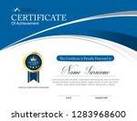 vector certificate template | Shutterstock .eps vector #1283968600