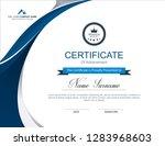 vector certificate template | Shutterstock .eps vector #1283968603