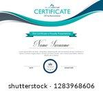 vector certificate template | Shutterstock .eps vector #1283968606
