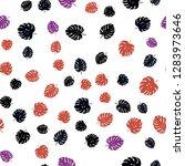 dark blue  red vector seamless... | Shutterstock .eps vector #1283973646