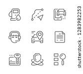 set line icons of car rent | Shutterstock .eps vector #1283982253