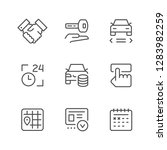 set line icons of car rent | Shutterstock .eps vector #1283982259
