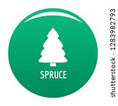 spruce tree icon. simple... | Shutterstock .eps vector #1283982793