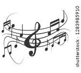 music note design on white... | Shutterstock . vector #1283985910