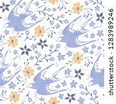 vector floral seamless pattern...   Shutterstock .eps vector #1283989246
