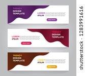 set of three abstract vector... | Shutterstock .eps vector #1283991616