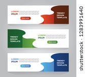 set of three abstract vector... | Shutterstock .eps vector #1283991640