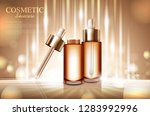 cosmetic product poster  bottle ... | Shutterstock .eps vector #1283992996