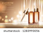 cosmetic product poster  bottle ... | Shutterstock .eps vector #1283993056