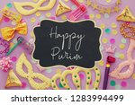 purim celebration concept ... | Shutterstock . vector #1283994499