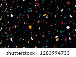 terrazzo pattern design with... | Shutterstock .eps vector #1283994733