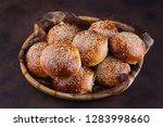 homemade hamburger buns   Shutterstock . vector #1283998660