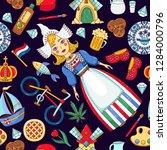 holland netherlands doodle...   Shutterstock .eps vector #1284000796