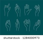 vector icon and logo female... | Shutterstock .eps vector #1284000973