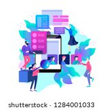 concept human resources and... | Shutterstock .eps vector #1284001033