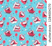 seamless vector pattern with... | Shutterstock .eps vector #1284004270