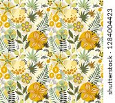 floral seamless pattern on... | Shutterstock .eps vector #1284004423