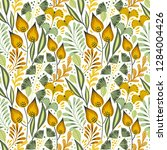 floral seamless pattern on... | Shutterstock .eps vector #1284004426