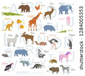 english alphabet for children... | Shutterstock . vector #1284005353