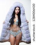 girl elegant lady wear... | Shutterstock . vector #1284006430