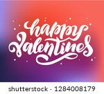 handwritten calligraphy logo ... | Shutterstock .eps vector #1284008179