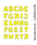 kids vector alphabet letters... | Shutterstock .eps vector #128401238