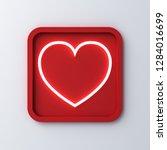 neon light heart in rounded... | Shutterstock . vector #1284016699
