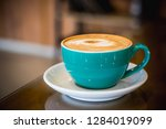 coffee latte art espresso in... | Shutterstock . vector #1284019099
