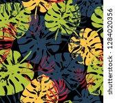 vector beach seamless pattern... | Shutterstock .eps vector #1284020356