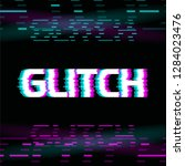 glitch effect colorful vector... | Shutterstock .eps vector #1284023476