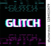 glitch effect colorful vector... | Shutterstock .eps vector #1284023479