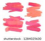 paint brush lines high detail... | Shutterstock . vector #1284025630