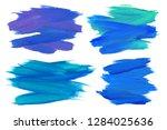 paint brush lines high detail... | Shutterstock . vector #1284025636