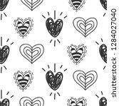 vector hand drawn hearts... | Shutterstock .eps vector #1284027040