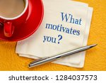 what motivates you  hadwriting... | Shutterstock . vector #1284037573