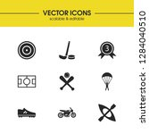 sports icons set with medal...