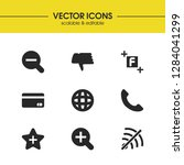ui icons set with zoom in ...