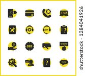 service icons set with compass  ... | Shutterstock .eps vector #1284041926