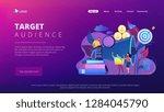 businessman look with magnifier ... | Shutterstock .eps vector #1284045790