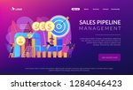 sales reps and managers analyze ... | Shutterstock .eps vector #1284046423