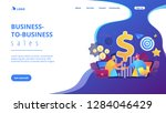 b2b sales person selling... | Shutterstock .eps vector #1284046429