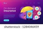 customer getting insurance... | Shutterstock .eps vector #1284046459